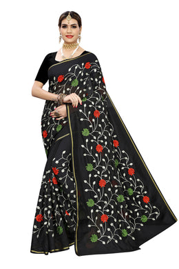 Fusion Black Banglori Silk Saree
