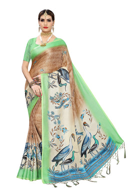 Sona Jute Green Jute Silk Saree