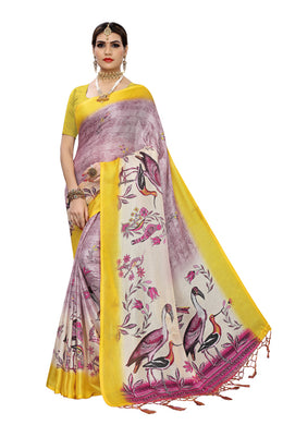 Sona Jute Yellow Jute Silk Saree