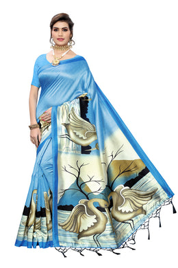 Gangotri Blue Art Silk Saree