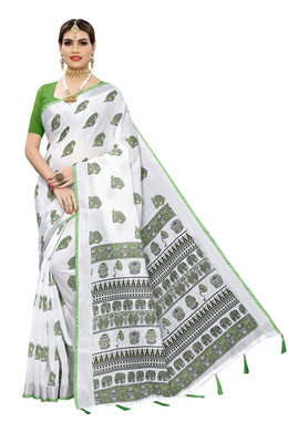 Angry Animal Green Banglori Silk Saree