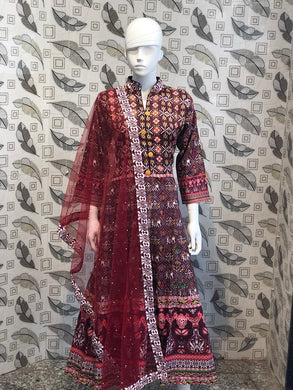 Coffee Color New Muslin Cotton Printed Regular Wear New Designer Readymade Long Kurti