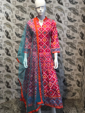 Pink Color New Muslin Cotton Printed Regular Wear New Designer Readymade Long Kurti