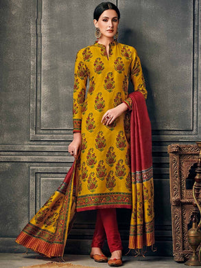 Yellow Color New Muslin Cotton Printed Regular Wear New Designer Readymade Long Kurti