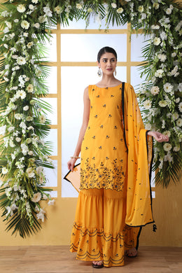 Mustard Cotton Salwar Suit
