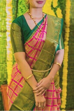 New Trendy Festival Indian Green Color Heavy Soft And Smooth Golden Zari Digital Print Saree