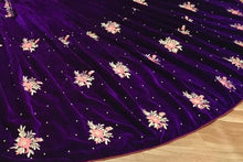 Amazing Viscose Velvet In Wine Color Embroidary Work Lehenga Choli