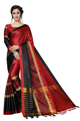 Catalog Women's Latest Cotton Silk Saree With Blouse Piece