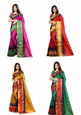 Catalog Catalog Women's New Poly Cotton Saree With Blouse Piece