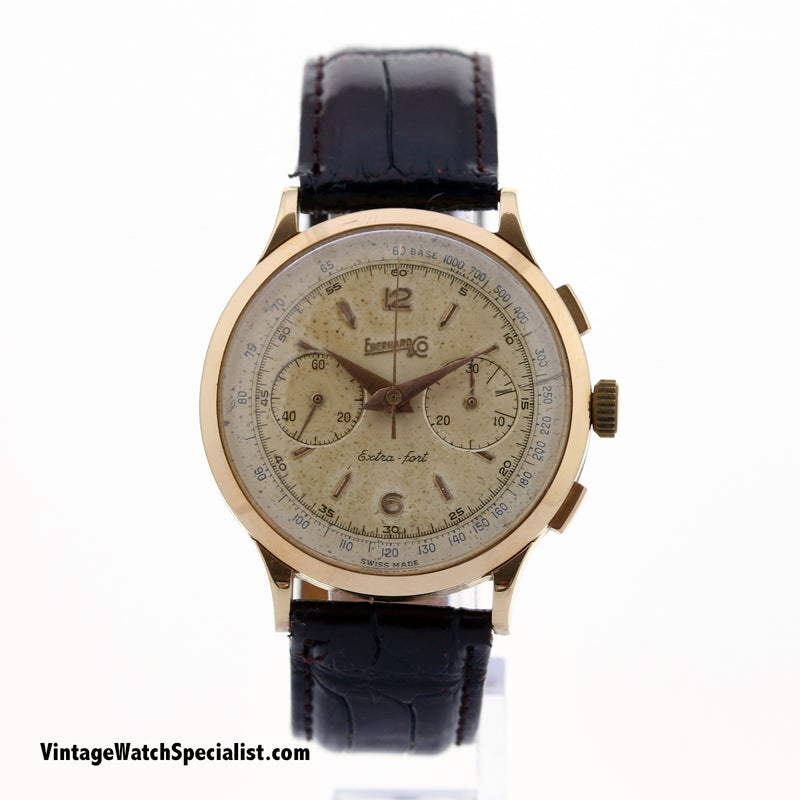 EBERHARD & CO EXTRA FORT CHRONOGRAPH 18k ROSE GOLD