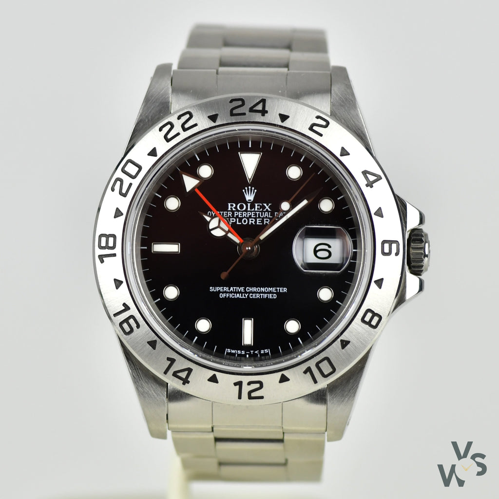 1997 Rolex Explorer II Black Dial Ref. 16570 - Box and papers - Vintage Watch Specialist
