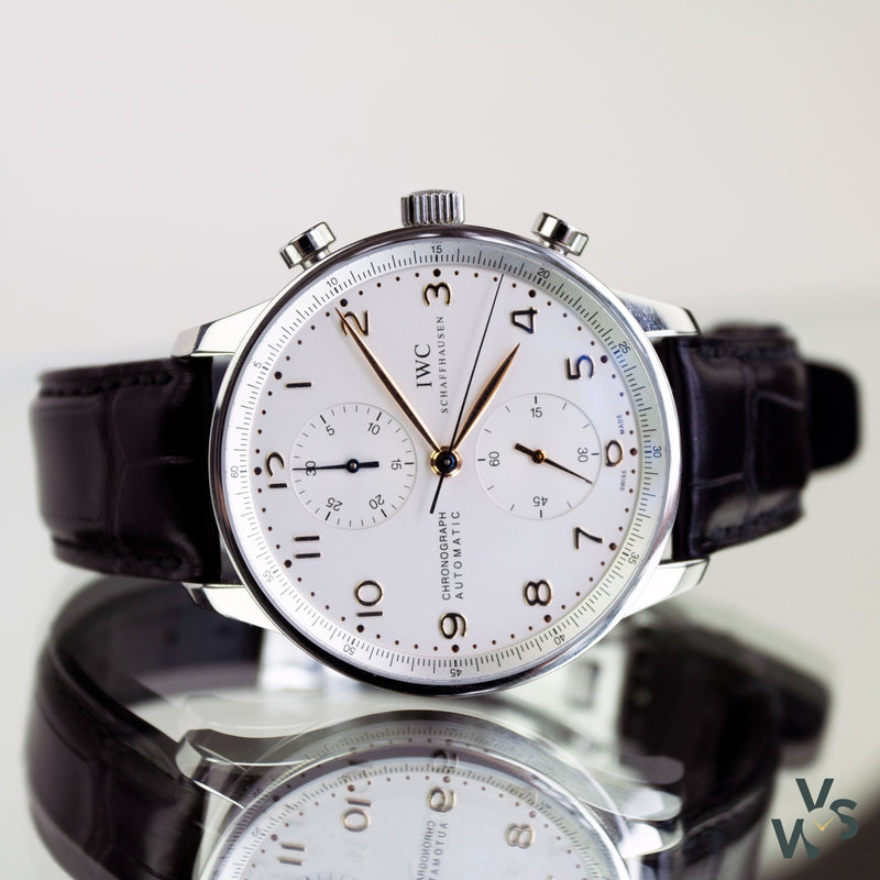 2016 IWC Portugieser Chronograph Reference IW371445 - Calibre 79350 - Vintage Watch Specialist