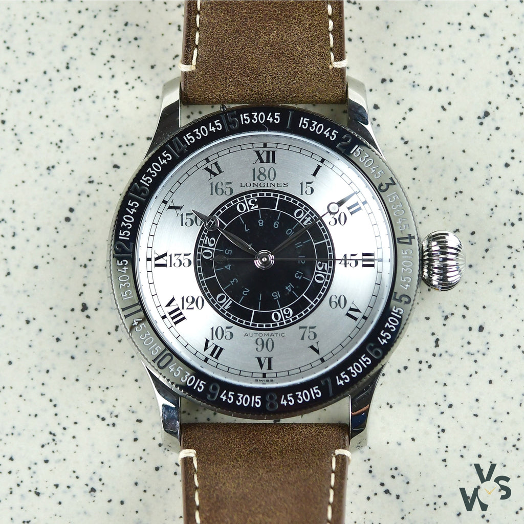 2017 Longines Hour Angle 90th Anniversary Lindbergh Ref. L2.678.1.71.0 - Vintage Watch Specialist