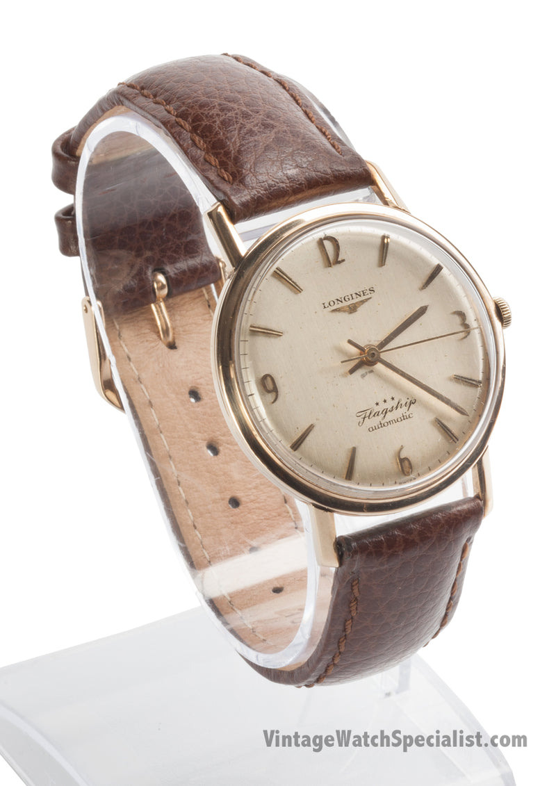 LONGINES FLAGSHIP - c1961 - AUTOMATIC CALIBRE 340 - 9K GOLD CASE