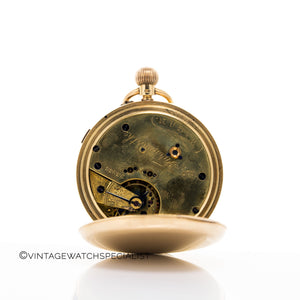 Gold Chronograph Pocketwatch Centre-Seconds with Solid Gold Chain Pendant