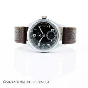 WWW Record WWII - Calibre 022K - 15 Jewels - Mechanical Hand Wind - Military Watch