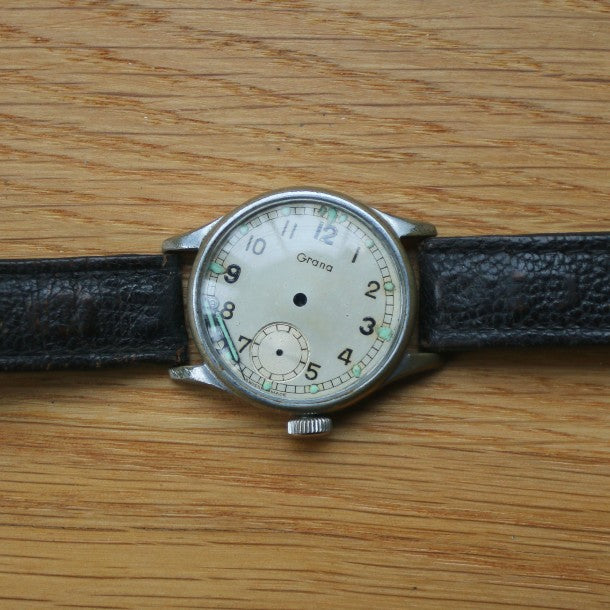 Grana White Dial M2742 Civilian (WWW Dirty Dozen Grana case back engraved) - Spares/repairs for Dirty Dozens