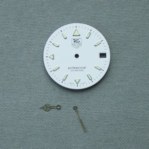 Tag Heuer 200m Professional White Tritium Dial and hands replacement