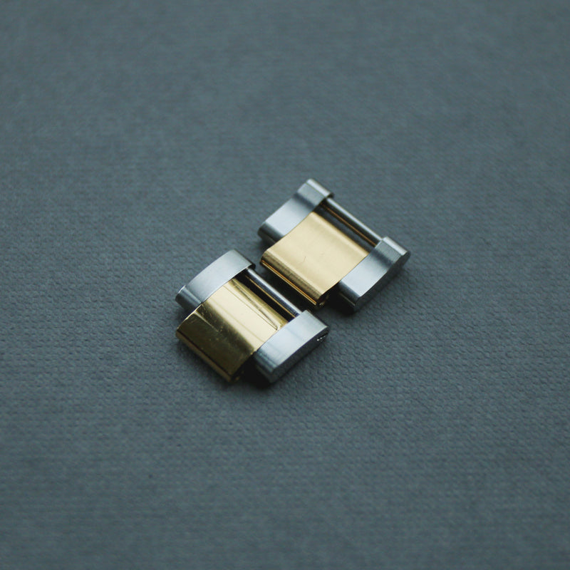 Rolex Solid Link Gold/Steel Oyster Replacement Links x2