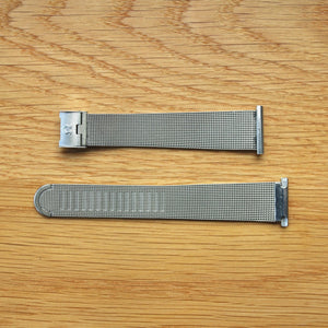 Omega - Stainless Steel - Milanese Mesh Bracelet - 21mm down to 14.21mm taper at clasp