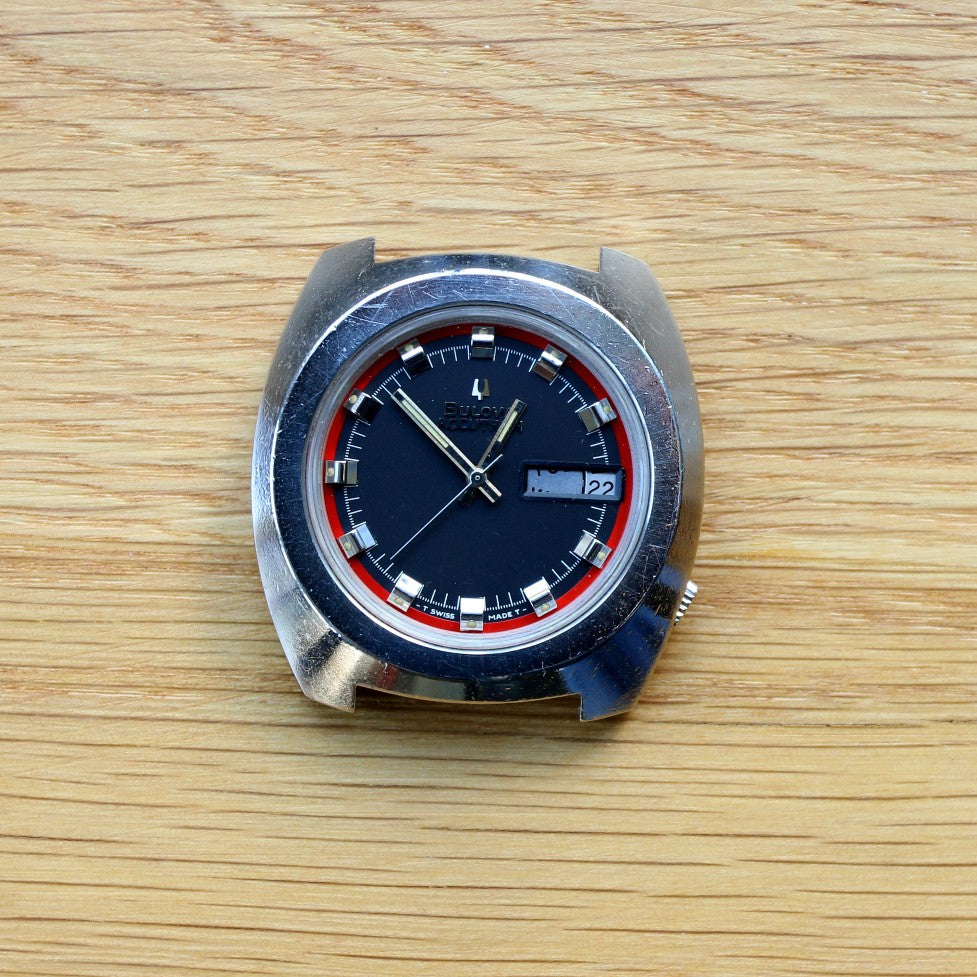 Bulova Accutron Day Date - Reference 762-1 - Calibre 2182 Movement - Spares & Repairs - faulty