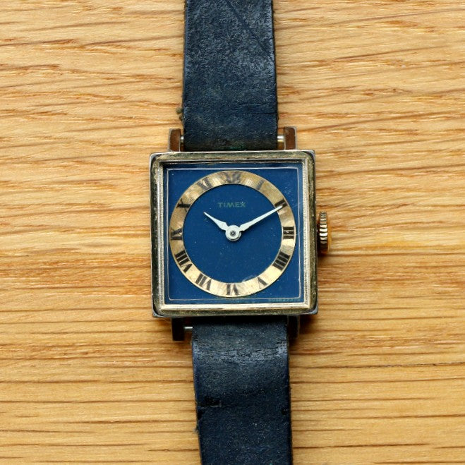 Timex France Tank case Gold-plated Ladies' Watch - Cal.291
