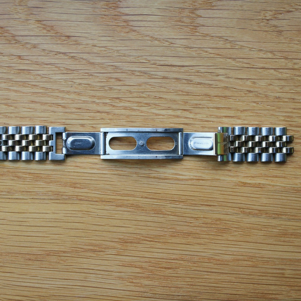 Longines Stainless Steel/Gold plated Jubilee-style bracelet