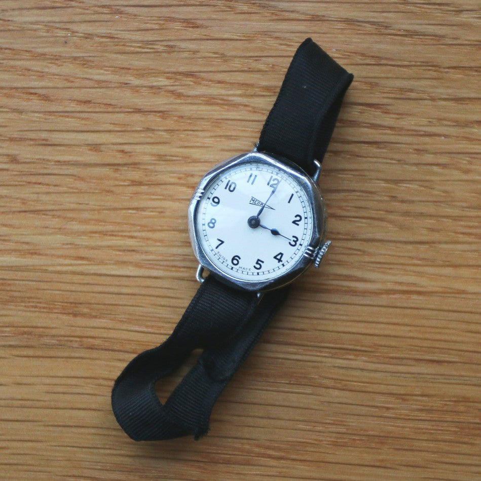 Meda Hex-Cased Ladies' watch - canvas strap with clasp - Spares/repairs