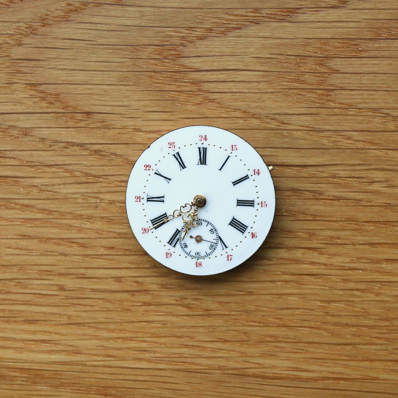 Pocket Watch - Dial, Movement and Hands - Spares/Repairs