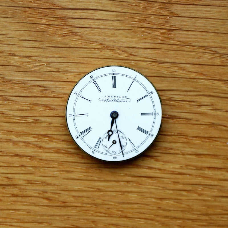 Waltham Pocket Watch - Dial, hands & Movement - Spares/Repairs