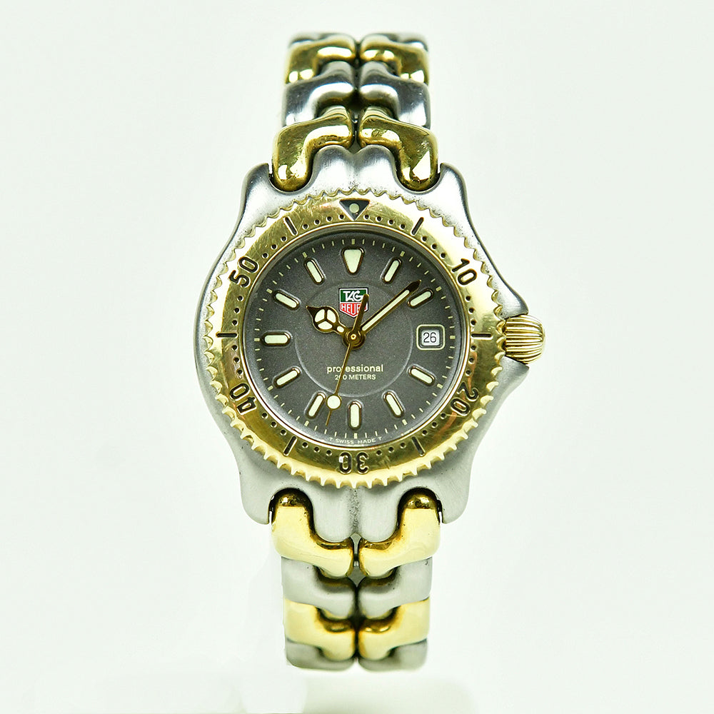 Tag Heuer - Ladies - Gold and Steel Wave - Professional 200m - WG 1320-2 - Vintage Watch Specialist