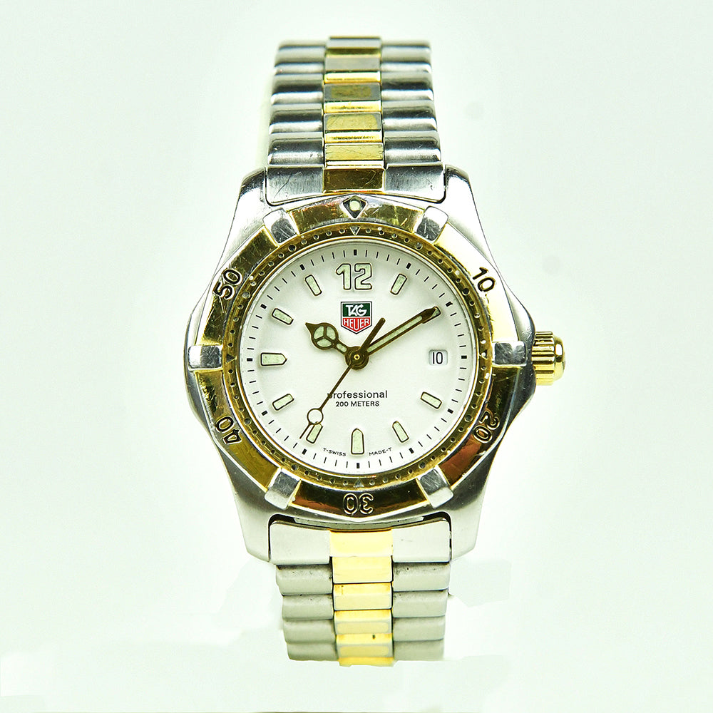 Tag Heuer Ladies Gold and Steel Professional 200m WK1320 - Vintage Watch Specialist