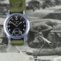 WWW Record Military 'Dirty Dozen' Watch - c.1945 WW2 Issued - Matching Case Numbers! - Vintage Watch Specialist