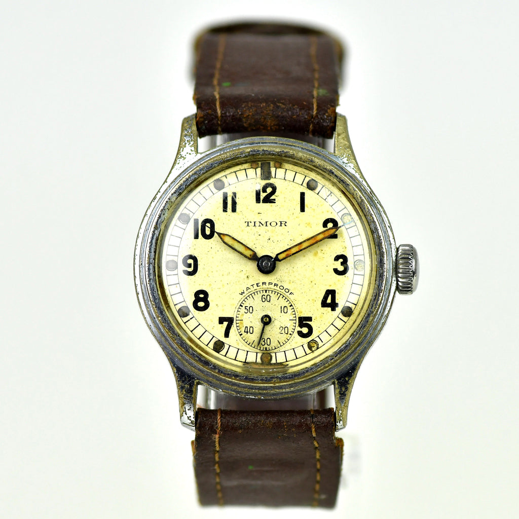 Timor 'ATP' Scalloped Back (Army Trade Pattern) Military Watch – WWII British Army - Issue c.1940