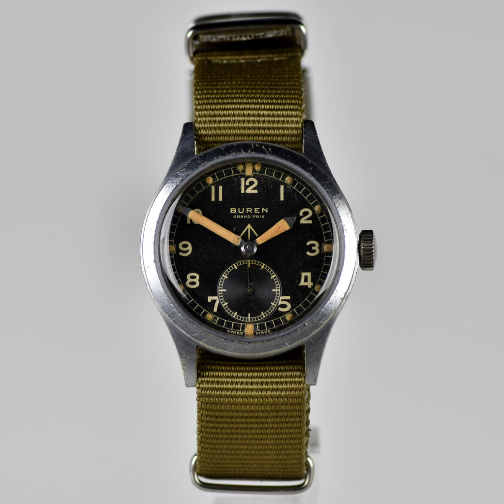 c.1944 - Buren - WWW 'Dirty Dozen' - WWII British Army-Issued Military Watch
