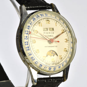 Pierce Triple Calendar Moon Phase - Calibre 103CLD - Chrome Plated Case