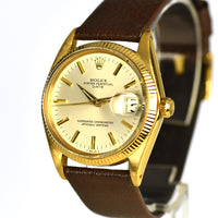 Rolex Oyster Perpetual - Date - 18ct Gold - Model Ref: 1503 - 1 million Serial, c.1965