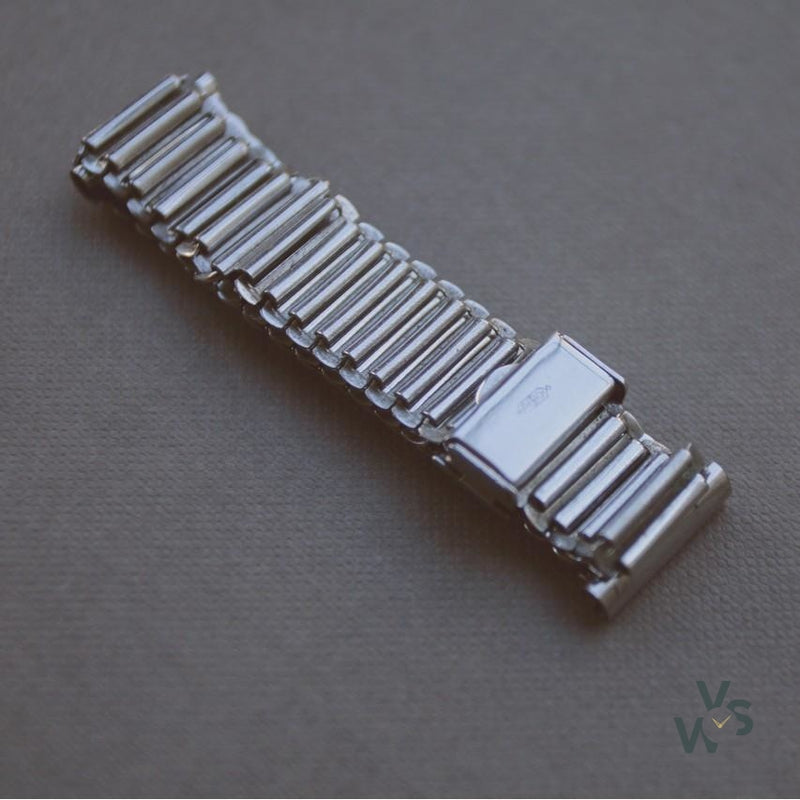 A. D. Military Style stainless steel bracelet - Bonklip design style - Vintage Watch Specialist