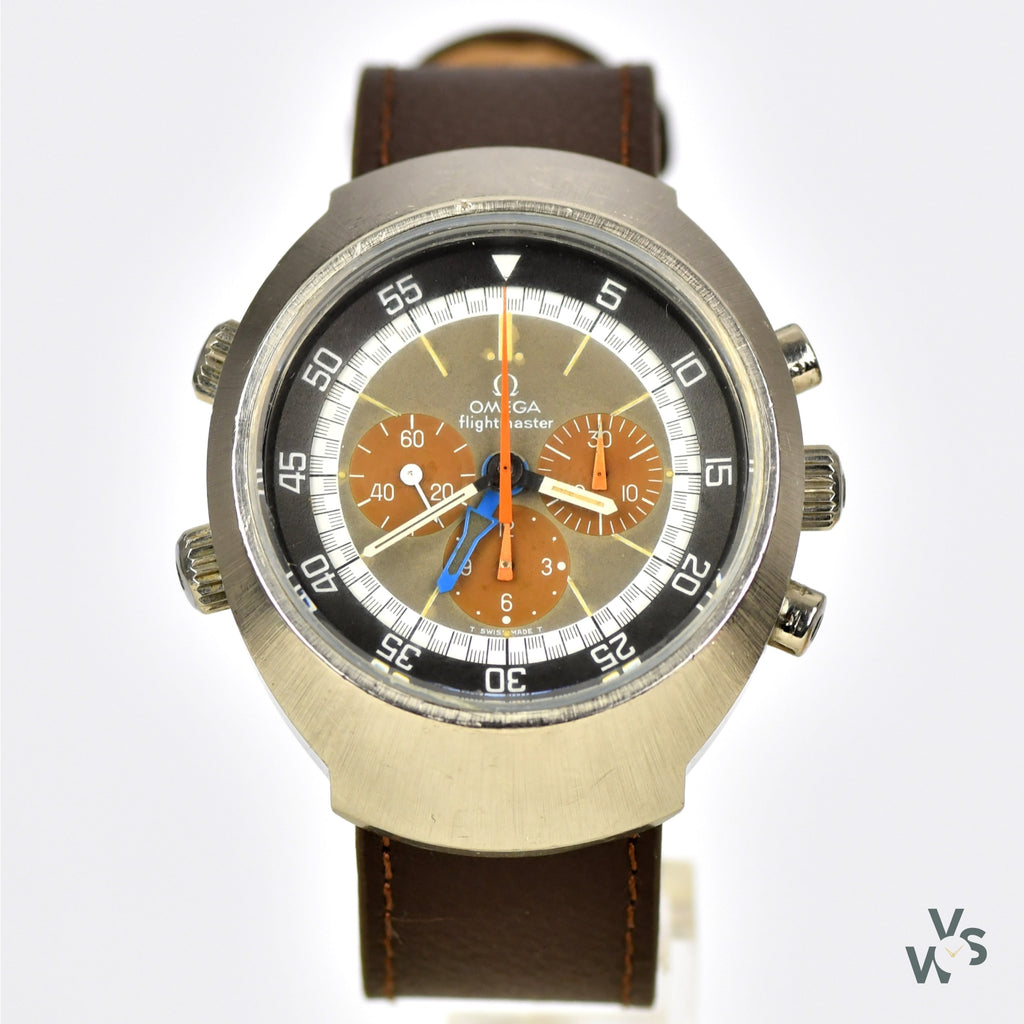 A Stunning Tropical Dial - Omega Flightmaster Chronograph GMT - Model Ref: 145.026 - Cal. 911 - c.1971 - Vintage Watch Specialist