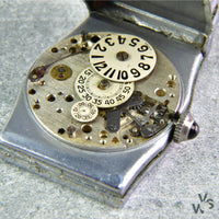 Art Deco Jump Hour Wandering Seconds Watch 1920s - Pierce Calibre 103 - Vintage Watch Specialist