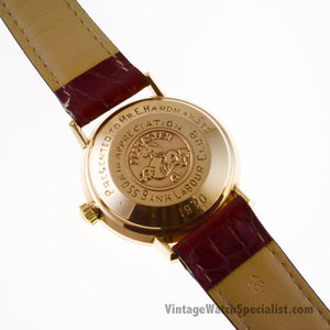 OMEGA DE VILLE - 166.5020 - 9K GOLD SHACKMAN CASE WITH CALIBRE 565 MOVEMENT