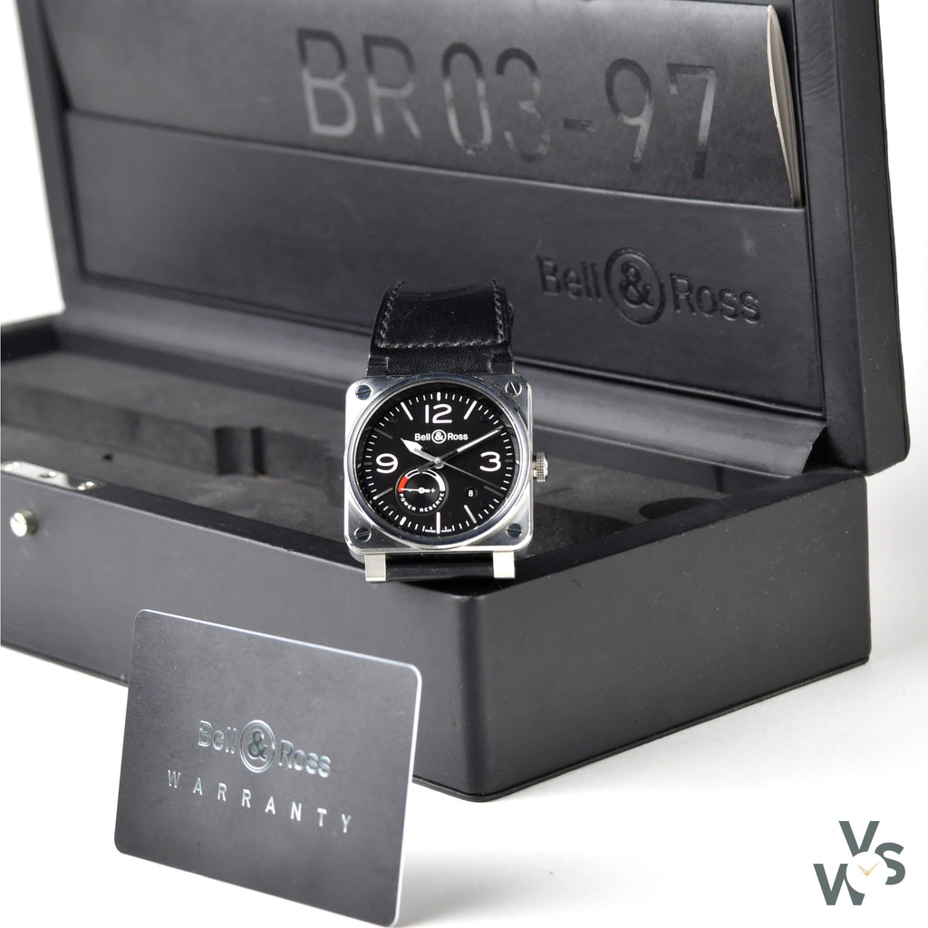 Bell & Ross BR03 - 97 Power Reserve/Réserve de Marche - 2016 Box + Papers - Vintage Watch Specialist