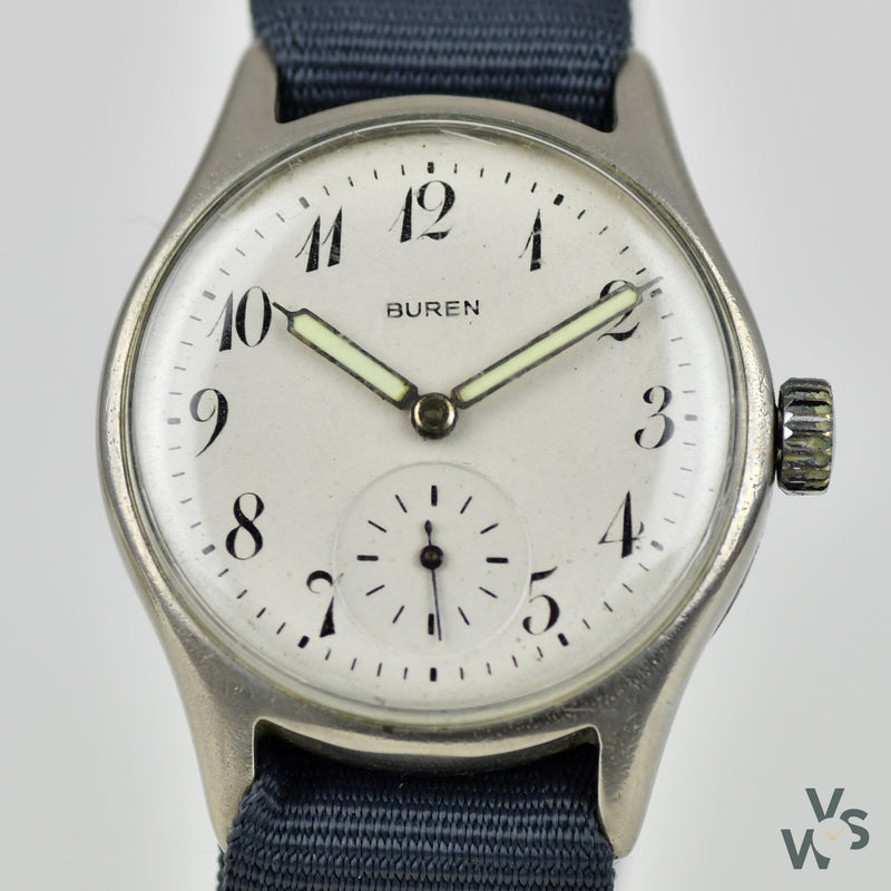 Buren c.1940s ATP - Army Trade Pattern - British Army-issued WWII Watch - Vintage Watch Specialist
