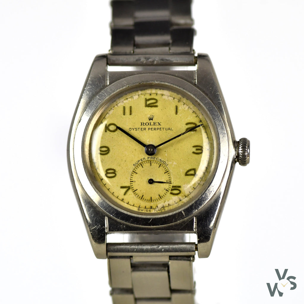 c.1940s Rolex 'Bubble Back' Super Precison - Ref. 2764 - Cal. 620N - Vintage Watch Specialist