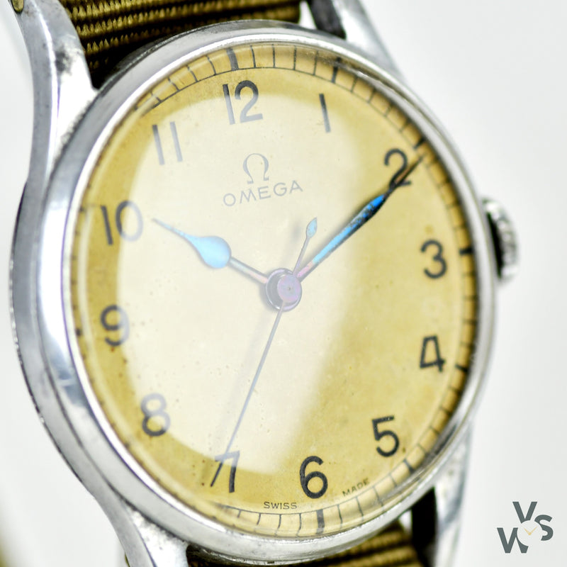 c.1943 Omega 6B/159 - RAF Military Issue Watch - Ref: 2292 - White Dial - Vintage Watch Specialist
