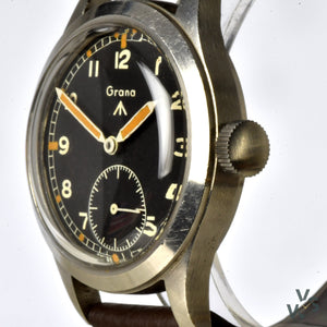 c.1944 Grana WWW 'Dirty Dozen' - WWII British Army-Issued Military watch - Vintage Watch Specialist