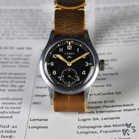 c.1944 Lemania WWW 'Dirty Dozen' - WWII British Army-Issued Military watch - Vintage Watch Specialist