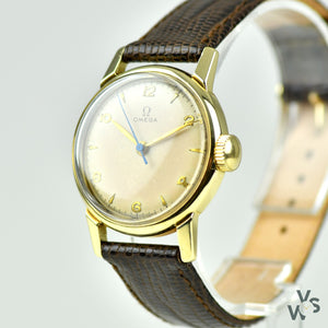c.1944 Omega 'Medicus' WWII Medic's Wrist watch - S&W 14k Gold Case - Vintage Watch Specialist