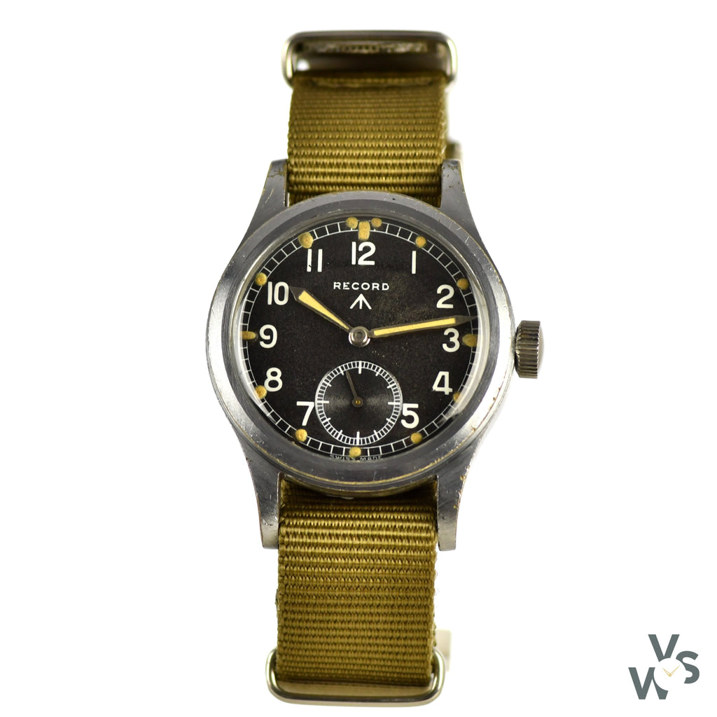 c.1944 - Record - WWW 'Dirty Dozen' - WWII British Army-Issued Military Watch - Vintage Watch Specialist