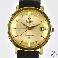 c.1963 Omega Constellation Pie Pan/Crosshair Dial - 168.004- 62 S.C Gold Capped Case - Cal.561 - Vintage Watch Specialist